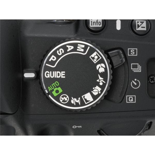 D3100 mode dial guide