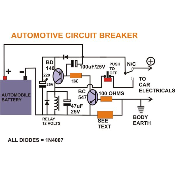 Wiring Diagram Of A Circuit Breaker : Circuit diagram of electronic breaker and