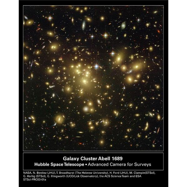 Abell1689 Galaxy Cluster - Image courtesy of NASA
