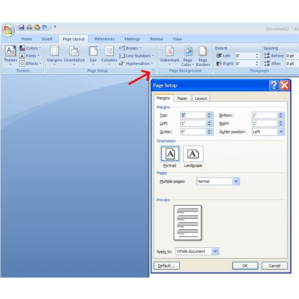 How To Print Portrait And Landscape Pages In The Same Word 2007 Document