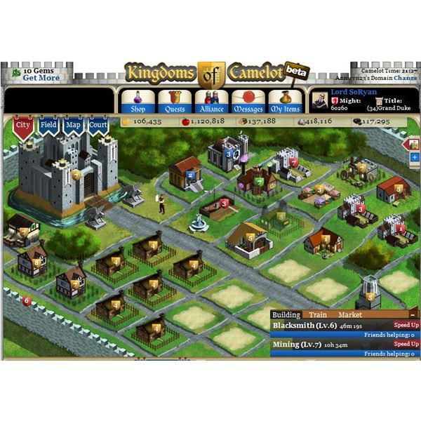Kingdoms of Camelot town