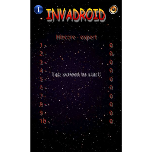 Invadroid High Score