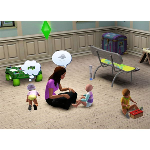 The Sims 3 teaching toddler to talk