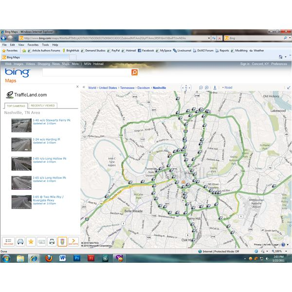 Traffic view lets drivers see what areas are congested.