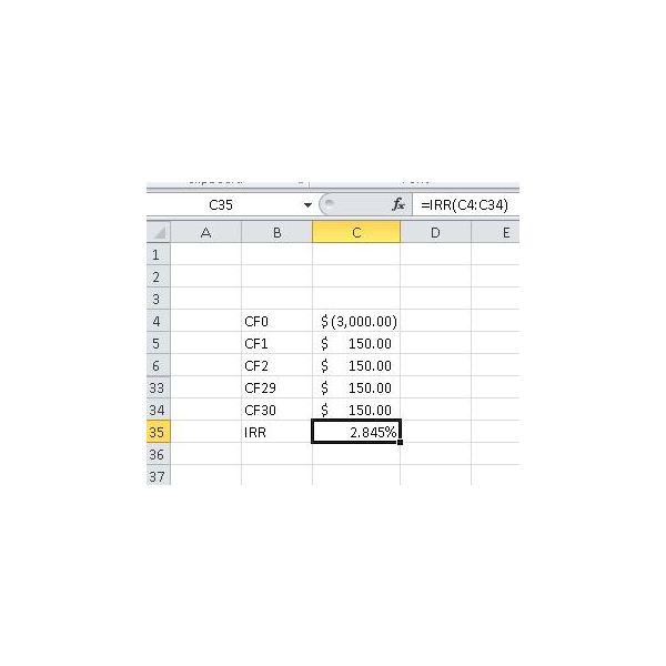 Learn how to calculate IRR in Excel