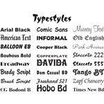 font styles,typography styles