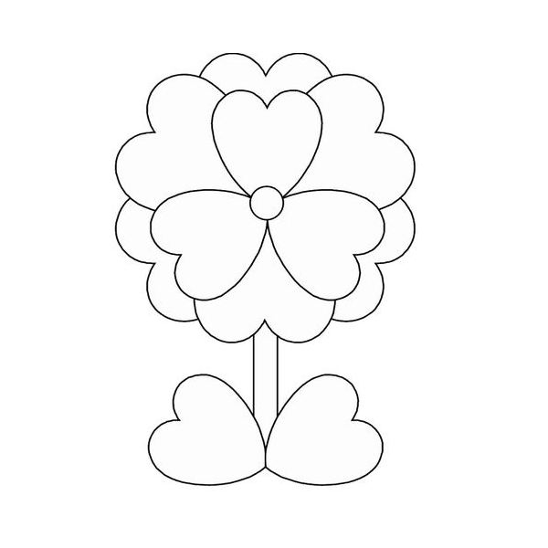 flower and hearts coloring pages | 10 Free Valentine's Day Coloring Sheets You Can Print at Home