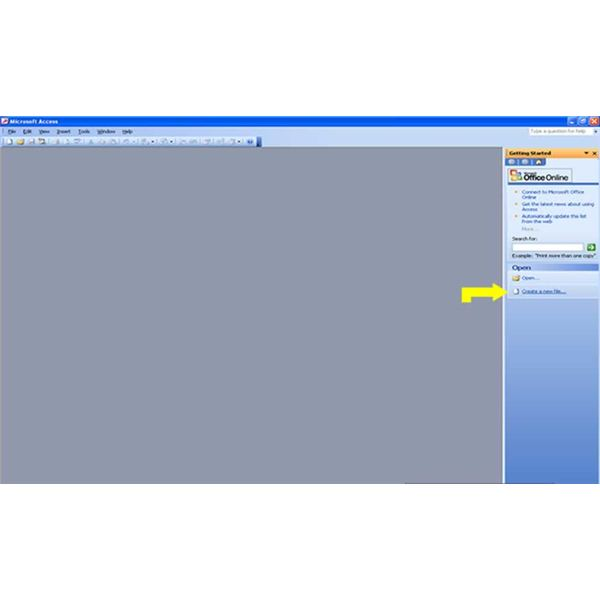 Creating Tables in Microsoft Access 2003