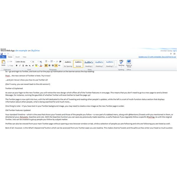 Microsoft Office in the browser