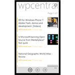 Windows Phone News aggregates feeds from other sites