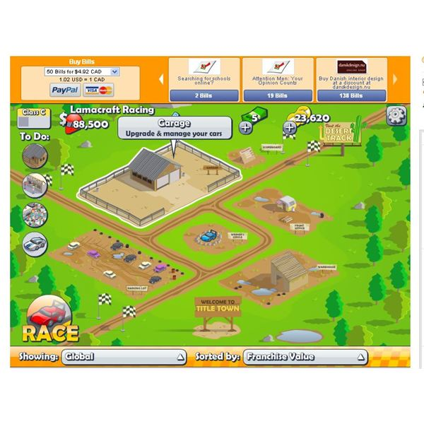 Racing Games: Facebook Title Town Racing Review