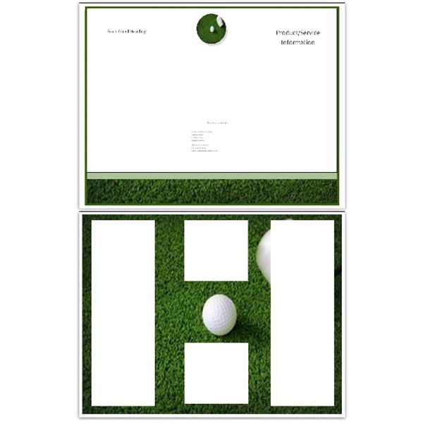 golf green brochure template