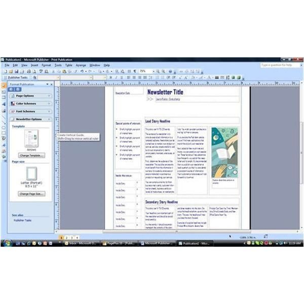 Publisher 2007 - Template with Text