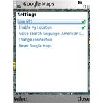 Settings of Google Maps for Nokia