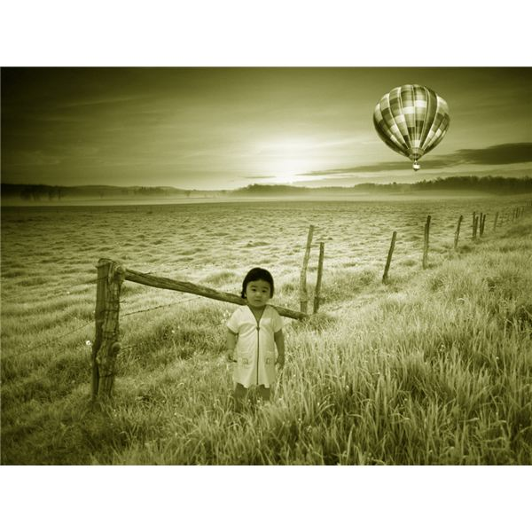 Girl and Hot Air Balloon