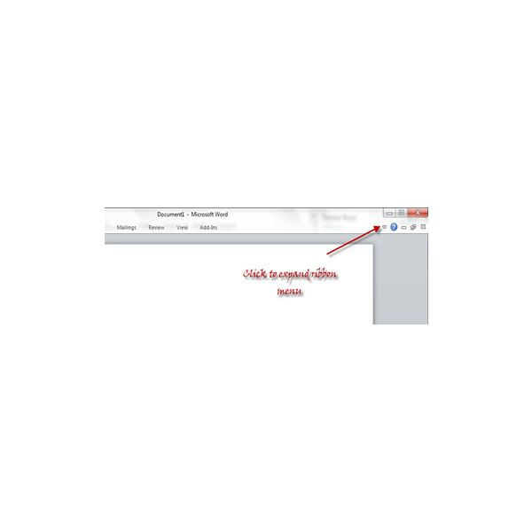Fig 3 - Office 2010 Ribbon Interface