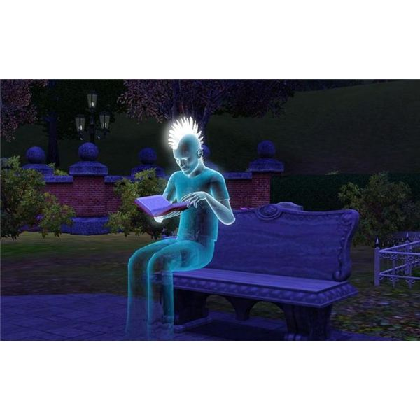 Sims 3 Death and Ghosts Guide Blue Ghost