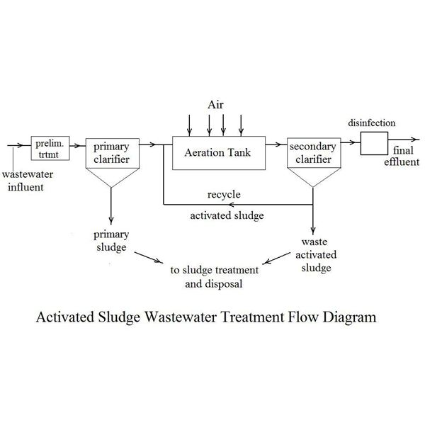 activated sludge flow diagram