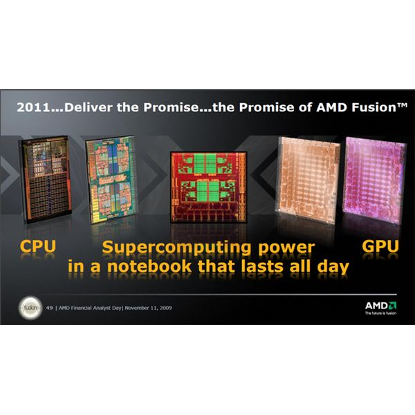 AMD's Fusion concept is an example of where the future of the CPU is headed