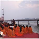 Holy Congregation on the Banks of the River Ganga