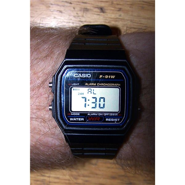 Casio f91w digital watch