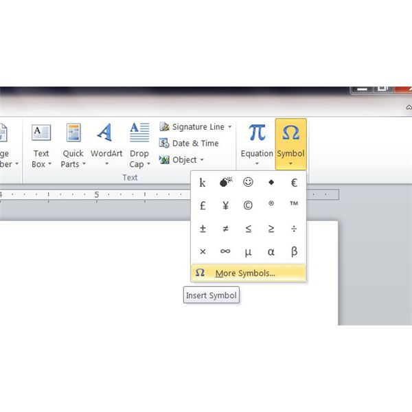 Guide To Microsoft Word Symbols
