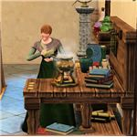 The Sims Medieval Physician Crafting Medicine from Herbs