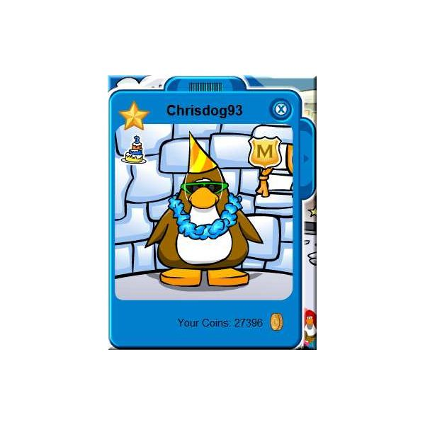 Chris Dog, player in Club Penguin