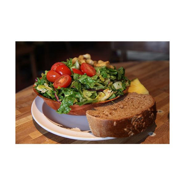Salad and Wheat Bread