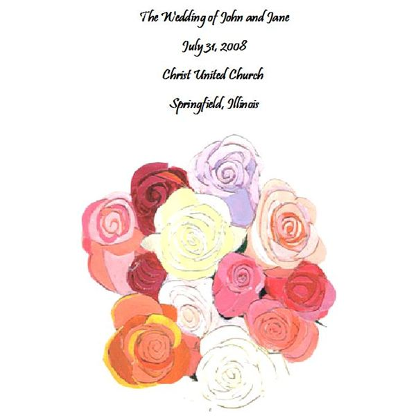 Free Wedding Program Templates DeStress Your Wedding Planning - Floral wedding program templates