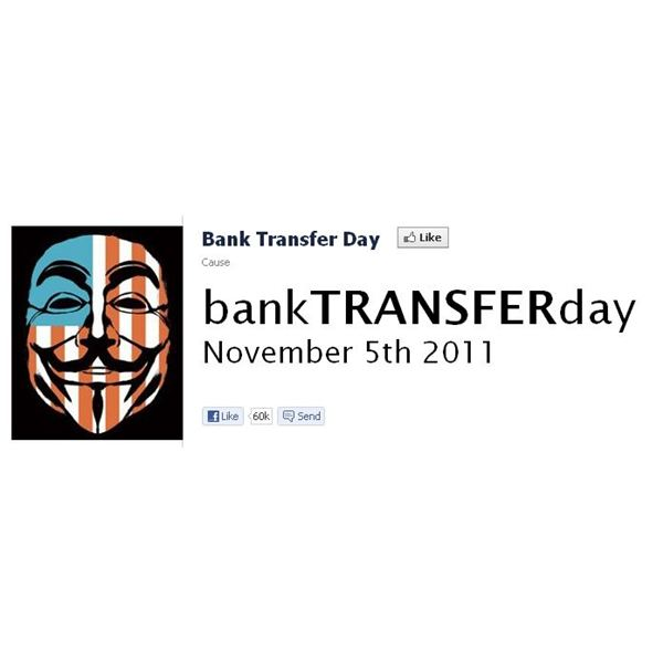 Screenshot Bank Transfer Day Facebook Page