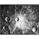 Mercury's cratered surface