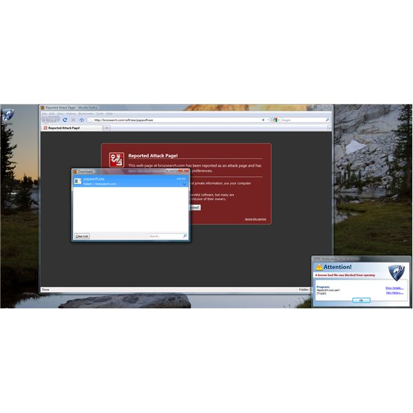 Prevented by VIPRE - unsafe download