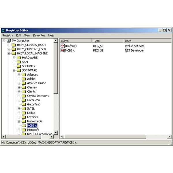 Windows Registry structure 2