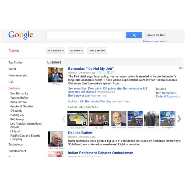 Create Custom Searches for Business News from Google