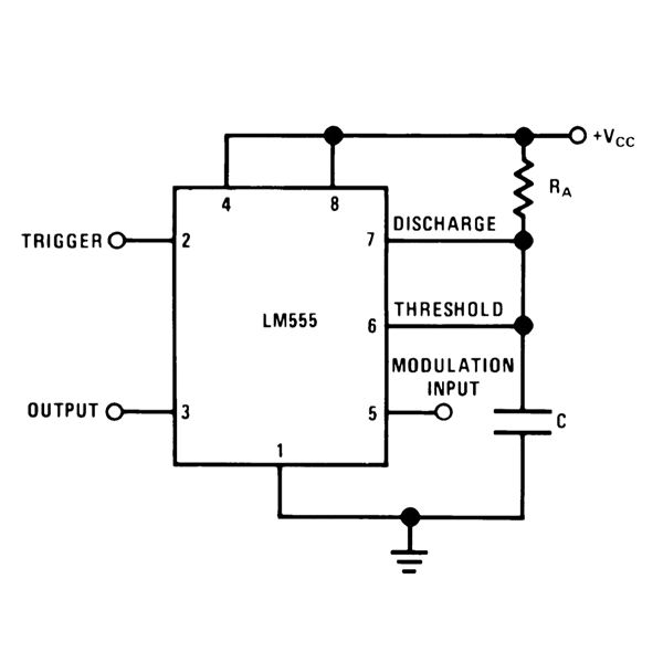 IC 555 Pulse Modifier Circuit Diagram, Image