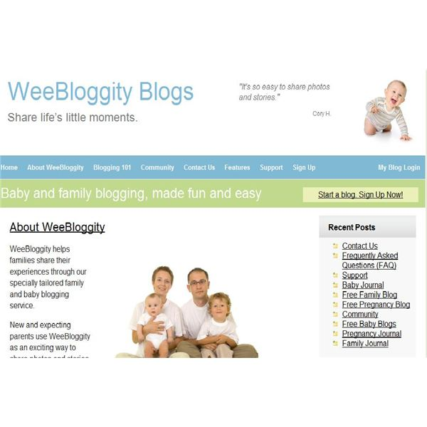 WeeBloggity Blog Free Family Blog Sites