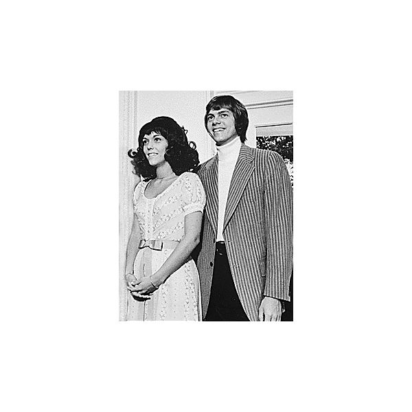Karen and Richard Carpenter at the White House on August 1, 1972.
