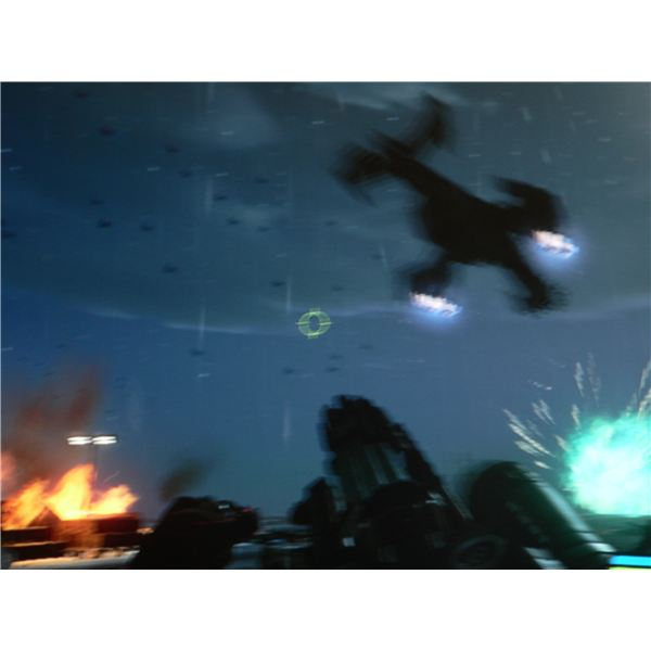 The aliens attacking the carrier in the Reckoning level of Crysis.