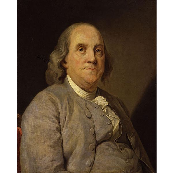 Benjamin Franklin by Joseph Siffred Duplessis c. 1778, National Portrait Gall