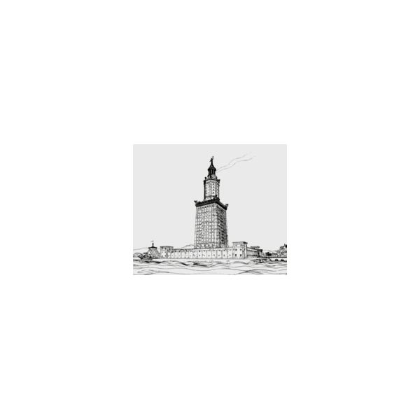 Lighthouse of Alexandria by Hermann Thiersch in Wikipedia