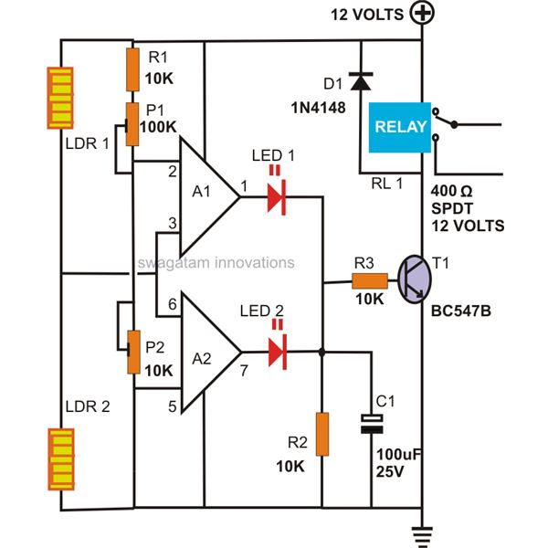 how to make a motion detector alarm circuit rh brighthubengineering com motion detectors circuit diagram motion sensor circuit diagram pdf