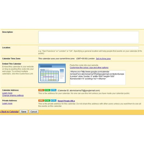 Finding the ICAL button which enables you to sync Google Calendar and Windows Live Calendar