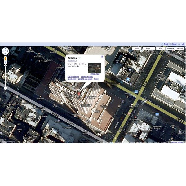 3 - The Empire State Building in Google Maps Satellite View