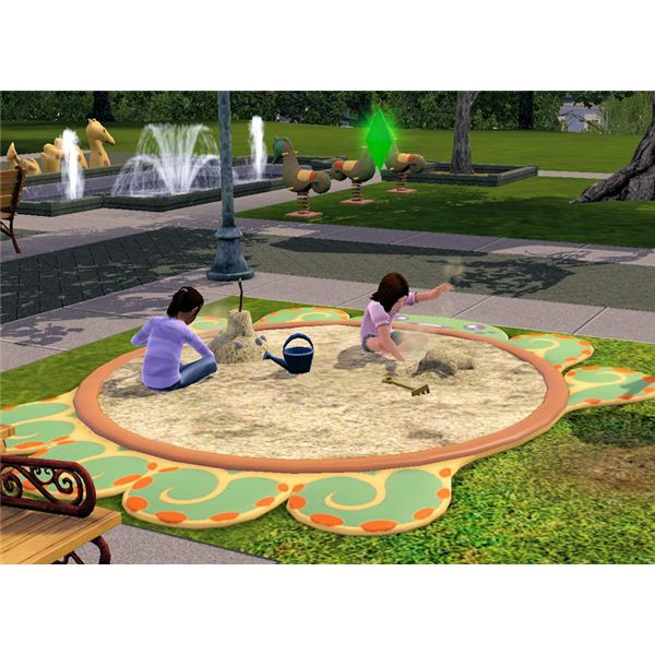 The Sims 3 sandbox at park