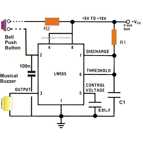 Best of 555 Timer Application Circuits Explained Ic Ne Pin Diagram on
