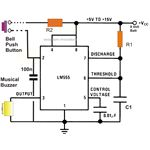 Simple IC 555 Door Bell Circuit Diagram, Image