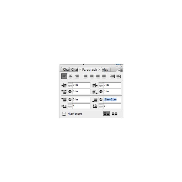 combining inches and cm in indesign