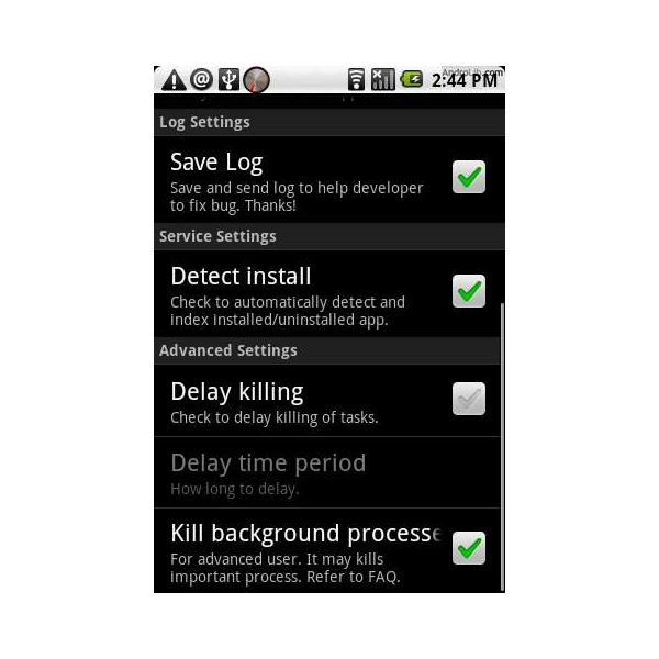 Automatic Task Killer Android