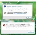 Error Enabling Windows Defender